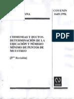 Chimeneas y Ductos. Determinacion de La Ubicacion y Numero Minimo de Puntos de Muestreo 1649-96