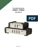 Manual Kvm Switch Cs82u-Cs84u-s 2012-02-06
