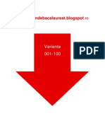 Geografie Eu Ro UE - Subiectul I cu 100 variante din 2009