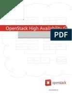 Openstack Ha Guide Trunk