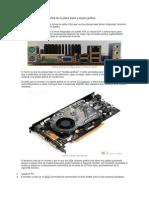 Dos Monitores Con Los VGA de La Placa Base y Tarjeta Gráfica
