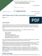 3400 Cylinder Head to Block Joint Repair Procedure{1124}