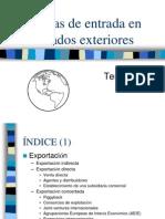 UD Formas de Entrada en Mercados Exteriores