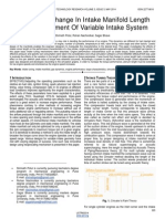 Analysis of Change in Intake Manifold Length and Development of Variable Intake System