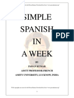 Simple Spanish in a Week by Pawankumar