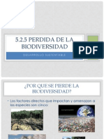 5.2.5 Perdida de La Biodiversidad