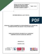 Informe General SDQS -  Julio 2014