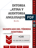 Auditoria Latina y Auditoria Anglosajona