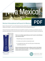Nerium Mexico Launch Details