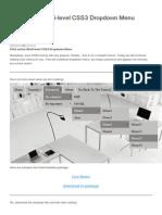 Click Action Multi-level CSS3 Dropdown Menu