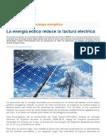 La Energía Eólica Reduce La Factura Eléctrica