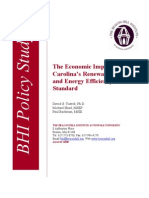The Economic Impact of North Carolina's Renewable Energy and Energy Efficiency Portfolio Standard
