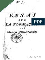 Maupertuis 1754 Essay Sur La Formation Des Corps Organisés (Ocr)