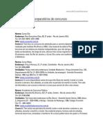 Lista Cursos Concursos Rio Janeiro
