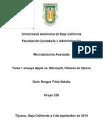 Ensayo Apple vs. Microsoft, Historia de Titanes