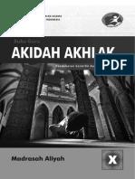 Buku Akidah Akhlak MA 10 Guru