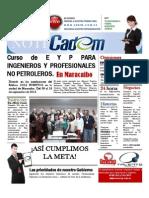 NotiCadem. E Y P Para Ingenieros y Profesionales No Petroleros. Maracaibo 09 Al 13 de Septiembre de 2013