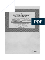 Copper Cricket Owner's Manual
