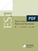 Disenio Curricular Para La Educacion Secundaria 1º Año 7º ESB Res Nº 3233 06