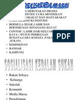 2.2 Sosialisasi Sukan