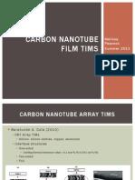Carbon Nanotube Film TIMs