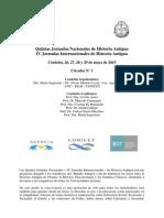Circular N°1 2015. Jornadas de Historia Antigua.
