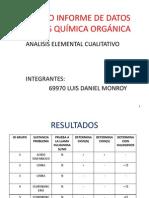 Formato Seminario Informe de Datos Prácticas Química Orgánica