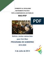 Mas Ipsp Plan de Gobierno 2010-2015