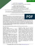 Immuno-Modulatory Effect Of Makaradhwaja