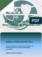 Apresentação a Prova Ilícita No Projeto Do Novo Código de Processo Civil