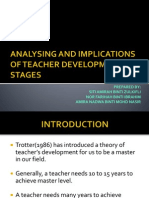 Analysing and Implications of Teacher Development Stages