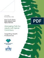 Managing Pain For Adults with Spinal Cord Injury