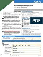 Nursing and Midwifery Board Form Application for General Registration AGEN 40