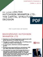Case Analysis- Hutchison Whampoa