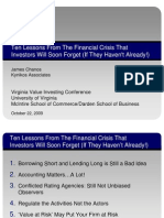 Jim Chanos Presentation - Ten Lessons From The Financial Crisis That Investors Will Soon Forget If They Havent Already