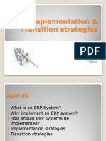 ERP implementation and transition stratagies