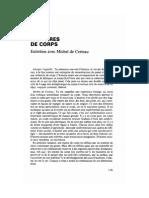 Histoires de Corps - De Certeau