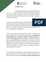 Convocatoria Diplomado de Profesionalizacin de La Enseanza de Ingls