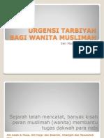 30 -- Urgensi Tarbiyah Bagi Wanita Muslimah