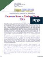 Common Sense - Modern Sense