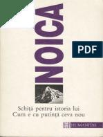 Constantin Noica-Schita Pentru Istoria Lui Cum e Cu Putinta Ceva Nou-Humanitas (1995)