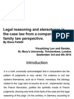 Legal reasoning and stereotypes