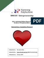 Entrepreneurship Competitors Research