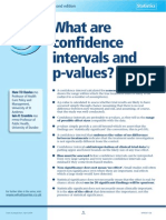 What Are Confidence Intervals and P-Values?