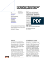 2014 I Am Not a Patient Design Challenges in Self Screening Medical Devices