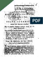 179x a La Guillotine, Le Scélérat Mottié de La Fayette