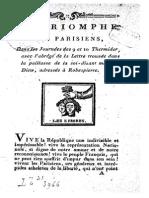 179x Le Triomphe Des Parisiens, Dans Le...Thermidor