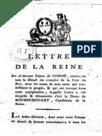 179x Lettre de La Reine Au Ci-Devant Prince de Conde