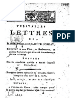 179x Véritables Lettres de Marie-Anne-Charlotte Corday
