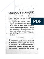 1791 Complot Manqué Des Aristocrates..